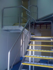 Stairs with balustrades